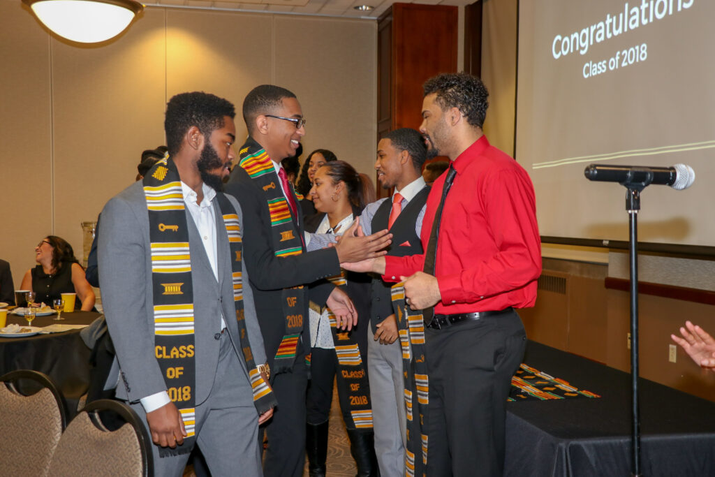 CASE 2018 Graduates were given are being presented with their stoles. A tradition that occurs every Salute to Excellence banquet.