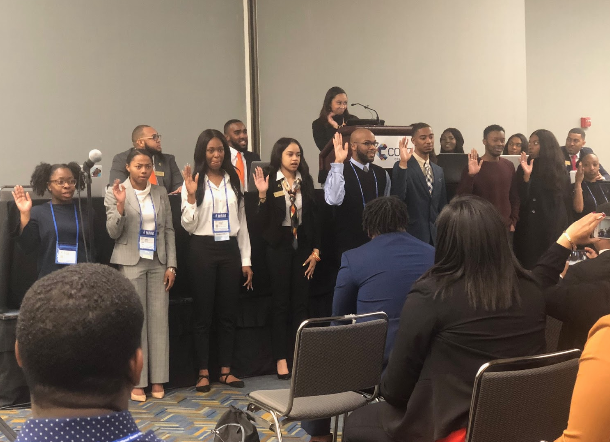 NSBE members being sworn in