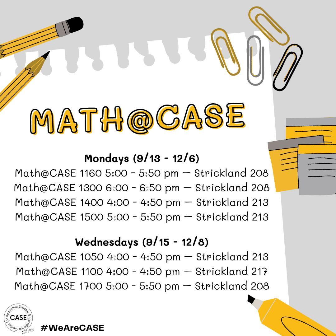 Math at CASE
